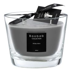 Baobab Collection Scented Candle - White Rhino - 10cm (2.090 CZK) found on Polyvore featuring home, home decor, candles & candleholders, fillers, candles, decor, grey, white candles, grey home decor and grey candles