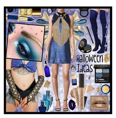 """""""Space Doll : Halloween Ideas"""" by beanpod ❤ liked on Polyvore featuring Stephen Webster, NYX, Cape Robbin, Roma, Dana Buchman, Boadicea the Victorious, Gucci, L'Oréal Paris, Milly and Roberto Coin"""
