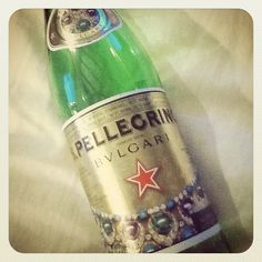 This on time we went to a bar and found the S Pellogrino x Bulgari bottle. Love.