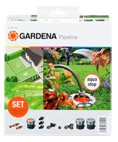 Starter kit with 2 watering points. Add on units and extensions as requirements grow. Built in shut-off valves release the water only when the hose is attached. Aquaponics Diy, Aquaponics System, Garden Hose, Lawn And Garden, Hose Box, Lawn Sprinklers, Water Management, Vand, Gardening