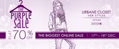 Fashion and you Purple sale - FLAT 70% OFF on all categories