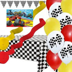 Blaze and the Monster Machines Poster, Banner, Balloon, Streamer Party Decoration Set