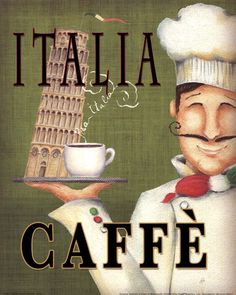 Worlds Best Chef IV, a great poster, cappuccino for everyone