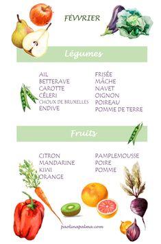 Fruit et légumes de saison: février