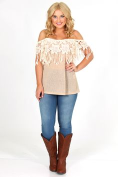 RESTOCK: Cross My Mind Top: Tan/Ivory. I just bought it!