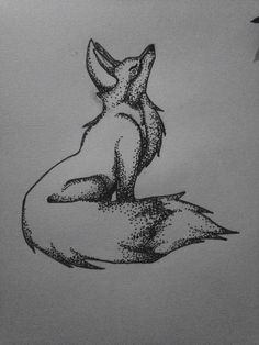 #dotwork #drawing #fineliner #dots #fox