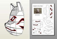 3d маски из бумаги как это сделано