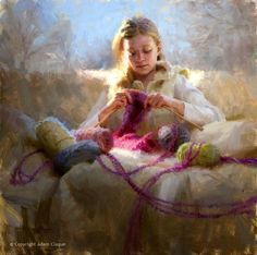 Adam Clague ~ Impressionist portrait painter — Products shown: Dutch Knits, 1635-1969 by Constance Willems at www.knitdesign.com