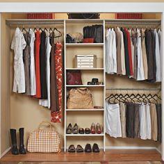 "Wall-Mounted Wood Custom 7-10 Ft Closet Organizer System 25"" W Tower 3 Rod White #ClosetMaid"