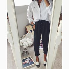 "Nina Urgell Cloquell on Instagram: ""Today  wearing ; new pants from @fridaysproject  tap for details. @westwing_es mirror included """