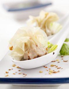 Raviolis au crabe et à la coriandre - ELLE