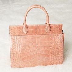 Alligator and a soft shade of pastel pink make this Alaia bag irresistible! - Yoogi's Closet