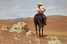 No Sign of His Cattle by Glenn Dean ~ 20 x 30