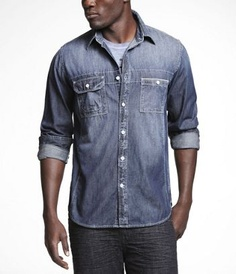 Denim shirt from Express...love the wash and white top stitching