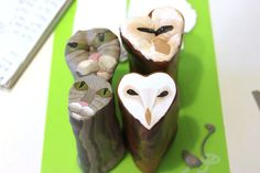 Owl and Pussycat Face Canes by tooaquarius, via Flickr