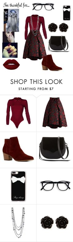 """""""I'm thankful for...... YOU!"""" by beautasticforev ❤ liked on Polyvore featuring Alaïa, Chicwish, ALDO, Rebecca Minkoff, Casetify, Erica Lyons, Lime Crime and imthankfulfor"""