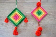 Tissage mexicain Ojo de Dios #OuiAreTeamChocolatinas #ChallengeOuiAreMakers Tassel Necklace, Crochet Necklace, Art And Craft, Gods Eye, Paper Crafts, Diy Crafts, Mexican Party, Eye Color, Color Combinations