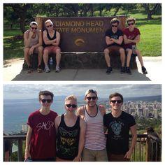 Korey Khrul, Tyler Oakley, Connor Franta, and Troye Sivan hiking in Hawaii