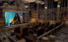 The Black Pearl inspired home theater