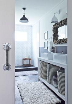rustic bathroom by Julie Holloway