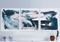 Home Decorators Lighting Collection Info: 2738204970 Blue Abstract, Abstract Wall Art, Abstract Paintings, Pink Ocean, Pink Wall Art, Using Acrylic Paint, Diy Canvas, Canvas Ideas, Fine Art Paper