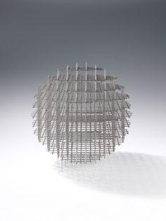 François Morellet, Sphère-Trame, 1962. Stainless steel, welded. Diameter: 36 cm.