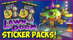 LAWN OF DOOM Sticker Pack Opening Spree + All Halloween Hats! | Plants v...