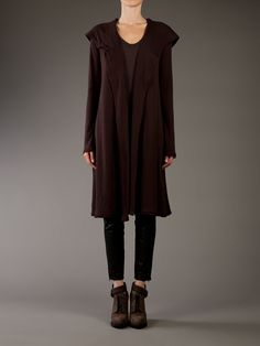 T by Alexander Wang Long Hooded Cardigan. I suspect this is the cardigan Debra Messing wears on Smash.