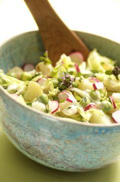 """Søgeresultater for """"Kartoffelsalat"""" – Kirstenskaarup. Danish Food, Vegan Vegetarian, Potato Salad, Tapas, Picnic, Grilling, Good Food, Food And Drink, Potatoes"""