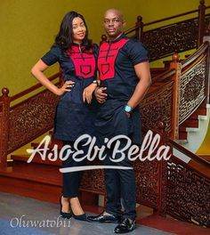 BellaNaija Weddings presents – Vol. 172 – The Latest Aso Ebi Styles Couples African Outfits, African Dresses Men, African Clothing For Men, African Shirts, African Attire, Nigerian Men Fashion, African Print Fashion, Africa Fashion, African Wear Styles For Men