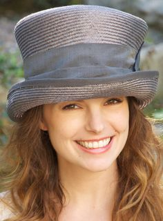 Gray Trilby Victorian English Riding Hat Kentucky by AwardDesign, $92.00