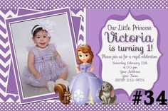 Hey, I found this really awesome Etsy listing at https://www.etsy.com/listing/200068065/sofia-the-first-invitation-princess