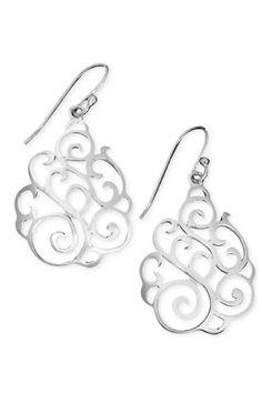 Sterling Silver Earrings, Filigree Drops by Giani Bernini