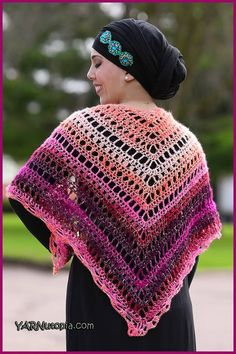 Summer Shawl - free crochet pattern and video from YARNutopia By Nadia Fuad