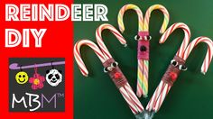 Rainbow Loom Band and Candy Cane Reindeer DIY Christmas Gift. Use Loom Bands, Candy Canes, and a hook to make your own adorable reindeer gifts for the holidays. You can use a crochet hook or the hook that came with your Rainbow Loom, CraZLoom, Wonderloom Christmas Crafts For Kids, Diy Christmas Gifts, Christmas Decorations, Christmas Ideas, Rainbow Loom Christmas, Candy Cane Reindeer, Rainbow Loom Creations, Rainbow Loom Bands, Fun Crafts