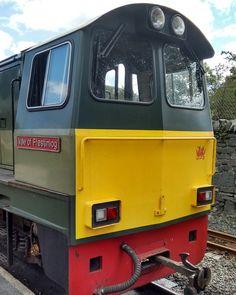 Ffestiniog Railway diesel locomotive Vale Of Ffestiniog at Blaenau Ffestiniog station. September 2016. Photo by Graham Brown.