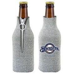 Milwaukee Brewers MLB Glitter Bottle Holder Cooler
