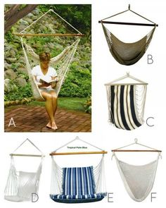 Hammock Swing Chairs for porch :)
