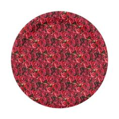 #Valentine's Day Red Roses Paper Plate - #flower gifts floral flowers diy