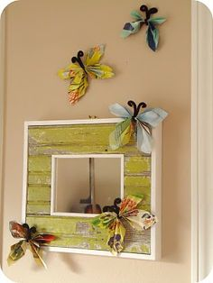 Grab those magazines out of the recycling bin, we're making paper butterflies today!