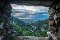 Stone framed view at the city Asenovgrad from the Fortress http://bulgariatravelagent.com