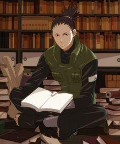 Shikamaru nara probably avoiding work by hiding