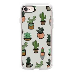 Cacti - Succulents - iPhone 7 Case, iPhone 7 Plus Case, iPhone 7... (850 MXN) ❤ liked on Polyvore featuring accessories, tech accessories, phone cases, phones, cases, fillers, iphone case, iphone cover case, iphone cases and apple iphone case