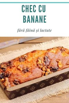 Romanian Food, Banana Bread Recipes, Sweet Recipes, Deserts, Gluten Free, Vegetarian, Sweets, Vegan, Kitchen