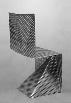 Perforated Metal Seating: The Tobias Labaraque Aluminum Chair is Agressively…