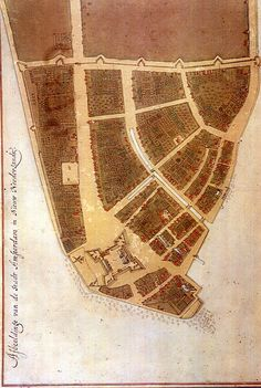1660: earliest known map of Manhattan when it was New Amsterdam