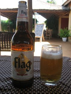 Flag - I believe it is from Burkina Faso (please correct me). It is a very good lager, perfect level when served very cold. It is all over Africa.