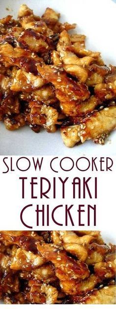 Serve this Slow Cooker Teriyaki Chicken over rice, you don't want any of that delicious, sticky sauce going to waste. Serve this Slow Cooker Teriyaki Chicken over rice, you don't want any of that delicious, sticky sauce going to waste. Healthy Food Recipes, Easy Chicken Recipes, Cooking Recipes, Beef Recipes, Chicken Teriyaki Recipe Crockpot, Recipe Chicken, Chicken Salad, Recipies, Healthy Teriyaki Chicken