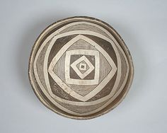10th–12th c.  United States, New Mexico Culture: Mimbres Medium: Ceramic, pigment Dimensions: H. 3 3/8 x Diam. 7 in. (8.6 x 17.8 cm)