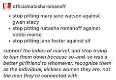 Lady sif, marvel, mcu, avengers, Jane Foster, Mary Jane Watson, Michelle Watson, Gwen Stacy, Natasha romanoff, bobbi morse